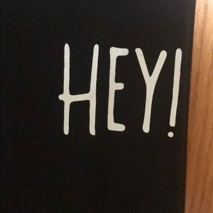 "Forever 21 Tops - Black ""HEY!"" tank top"